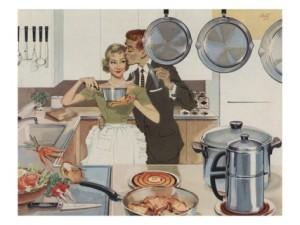 husband-kissing-wife-in-kitchen